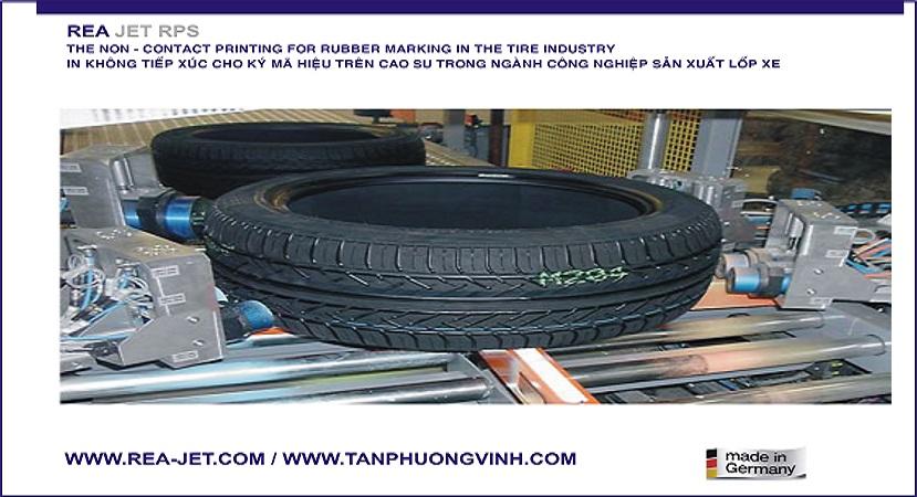 In ký mã hiệu trong ngành công nghiệp sản xuất lốp xe